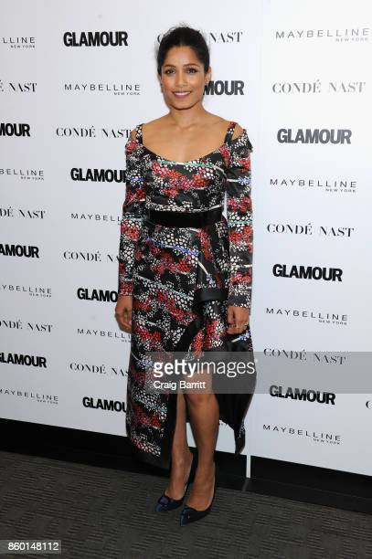 Actress Freida Pinto attends Glamour's 'The Girl Project' on the International Day of the Girl on October 11 2017 in New York City