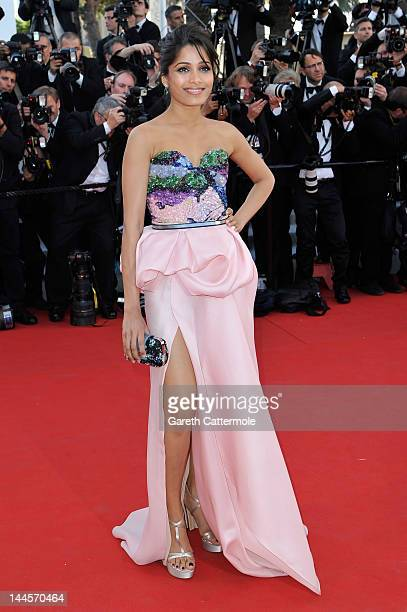 Actress Freida Pinto attends opening ceremony and 'Moonrise Kingdom' premiere during the 65th Annual Cannes Film Festival at Palais des Festivals on...