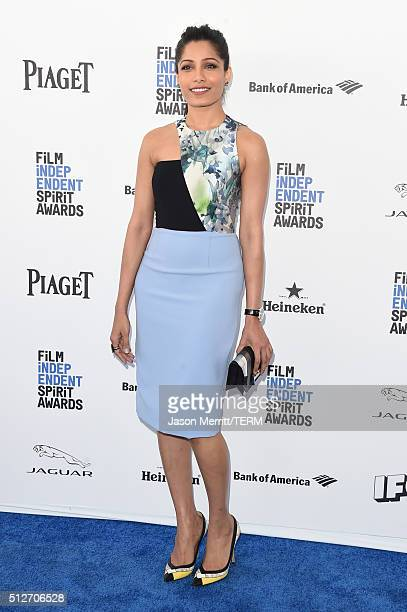 Actress Freida Pinto attends the 2016 Film Independent Spirit Awards on February 27 2016 in Santa Monica California