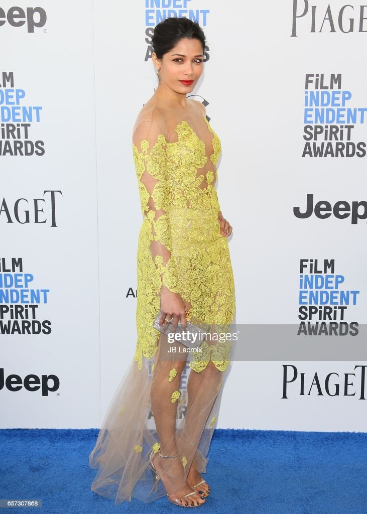 Actress Freida Pinto attends the 2017 Film Independent Spirit Awards on February 25, 2017 in Santa Monica, California.
