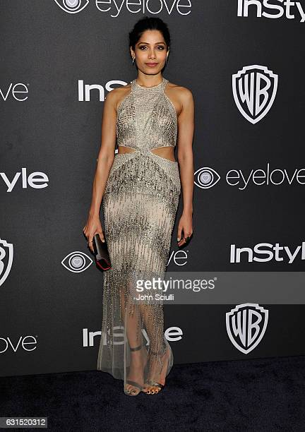 Actress Freida Pinto attends The 2017 InStyle and Warner Bros 73rd Annual Golden Globe Awards PostParty at The Beverly Hilton Hotel on January 8 2017...