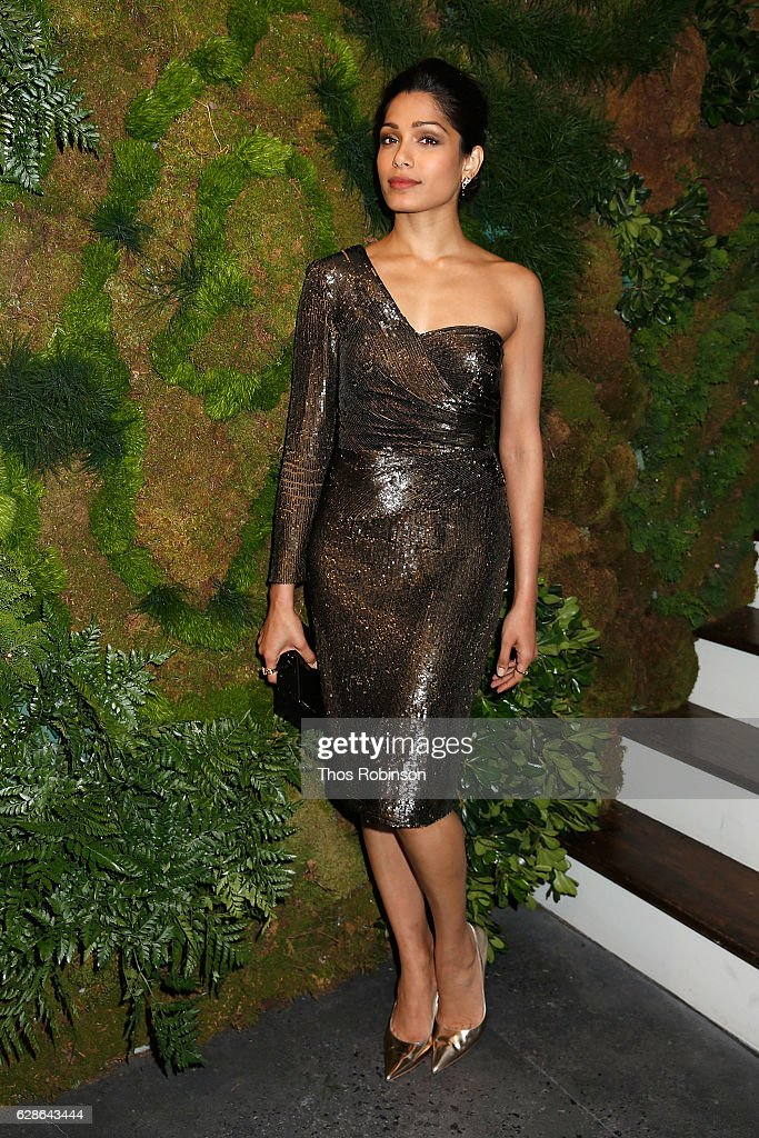 Actress Freida Pinto attends the John Hardy Artisan in Residence Launch at John Hardy Soho Flagship on December 8, 2016 in New York City.