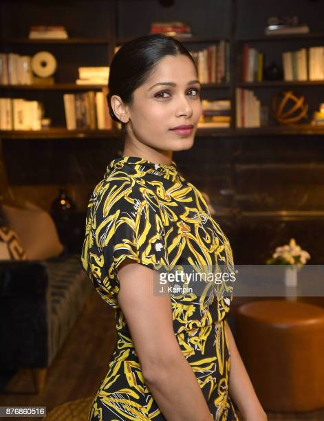Actress Freida Pinto attends the Ladies First Screening Reception at Neuehouse on November 20 2017 in New York City