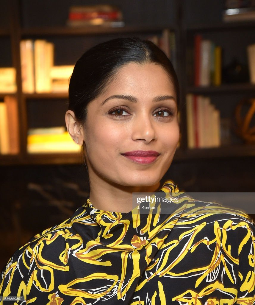 Actress Freida Pinto attends the 'Ladies First' Screening & Reception at Neuehouse on November 20, 2017 in New York City.
