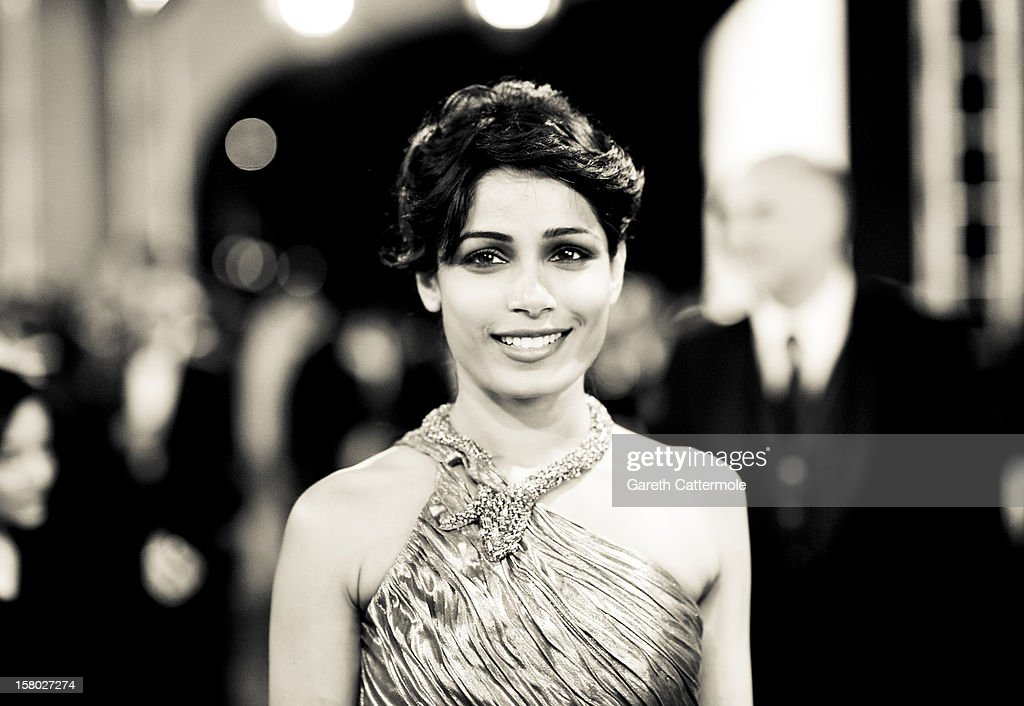 Actress Freida Pinto attends the 'Life of PI' Opening Gala during day one of the 9th Annual Dubai International Film Festival held at the Madinat Jumeriah Complex on December 9, 2012 in Dubai, United Arab Emirates.