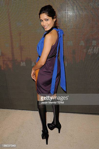 Actress Freida Pinto attends the Marni at HM Collection Launch at Lloyd Wright's Sowden House on February 17 2012 in Los Angeles California