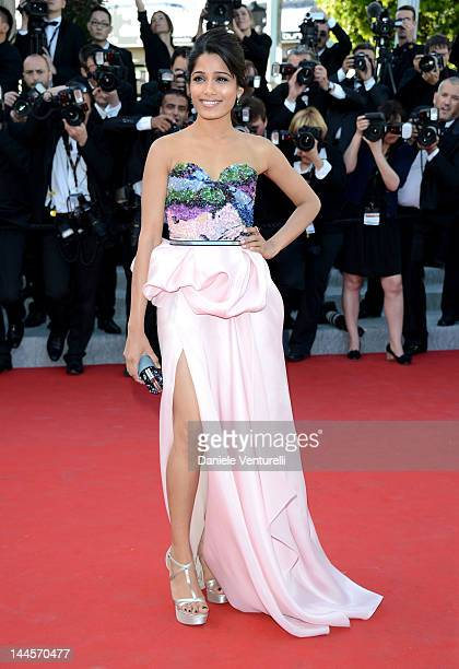 Actress Freida Pinto attends the Opening Ceremony and Moonrise Kingdom Premiere during the 65th Annual Cannes Film Festival at the Palais des...