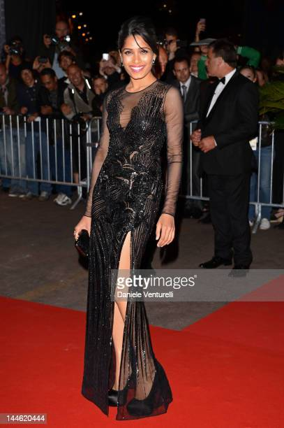 Actress Freida Pinto attends the Opening Night Dinner during 65th Annual Cannes Film Festival at Palais des Festivals on May 16 2012 in Cannes France