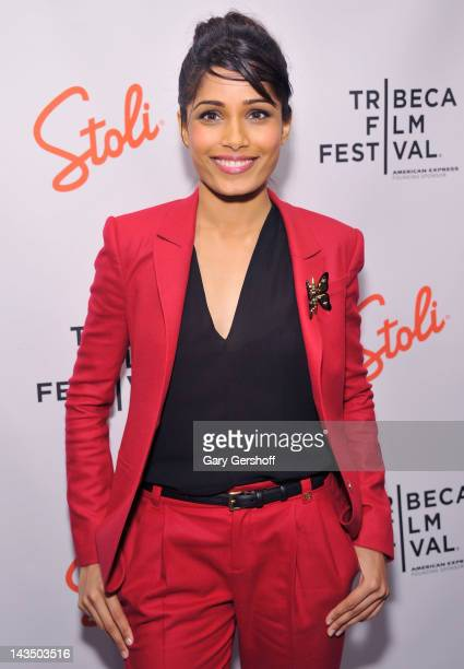 Actress Freida Pinto attends the 'Trishna' premiere after party during the 2012 Tribeca Film Festival at Hotel Chantelle on April 27 2012 in New York...