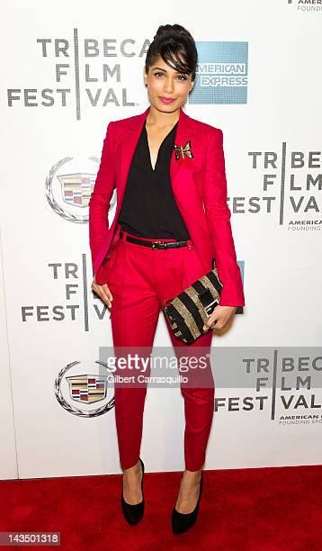 Actress Freida Pinto attends the 'Trishna' premiere during the 2012 Tribeca Film Festival at BMCC Tribeca PAC on April 27 2012 in New York City