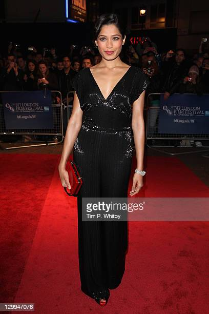 Actress Freida Pinto attends the Trishna premiere during the 55th BFI London Film Festival at the Vue West End on October 22 2011 in London England