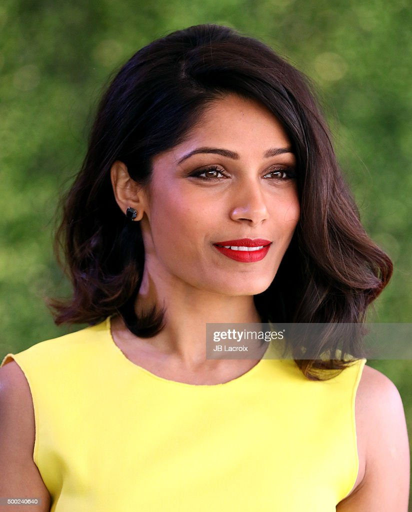 Actress Freida Pinto attends the WWD And Variety inaugural stylemakers' event at Smashbox Studios on November 19, 2015 in Culver City, California.
