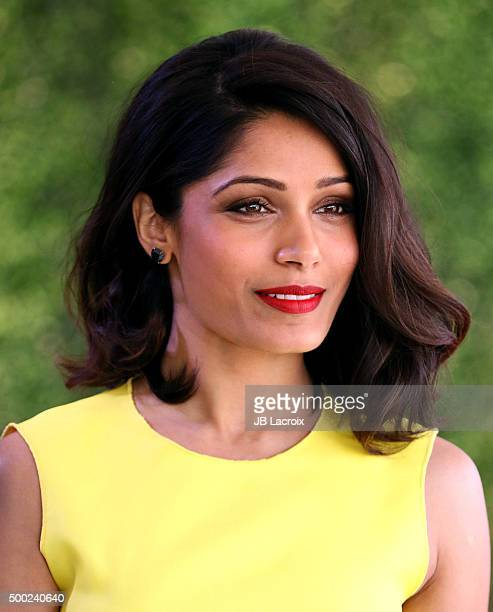 Actress Freida Pinto attends the WWD And Variety inaugural stylemakers' event at Smashbox Studios on November 19 2015 in Culver City California