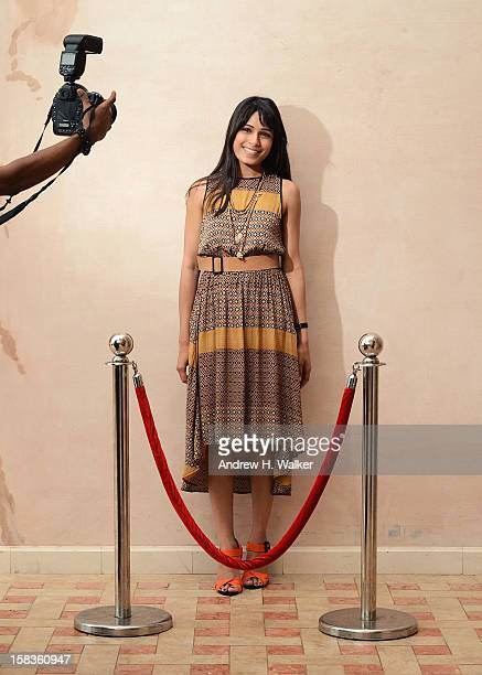 Actress Freida Pinto during a portrait session on day six of the 9th Annual Dubai International Film Festival held at the Madinat Jumeriah Complex on...