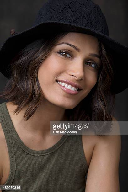 Actress Freida Pinto is photographed for USA Today on March 26 2015 in Century City California
