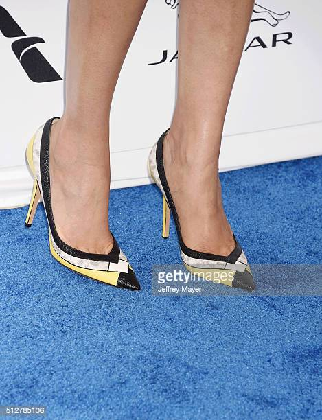 Actress Freida Pinto shoes detail at the 2016 Film Independent Spirit Awards on February 27 2016 in Santa Monica California