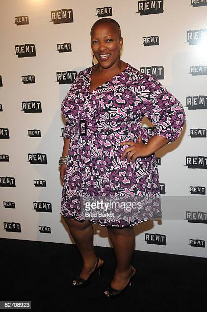 Actress Frenchie Davis attends the RENT Broadway closing night after party at Chelsea Piers on September 7 2008 in New York City