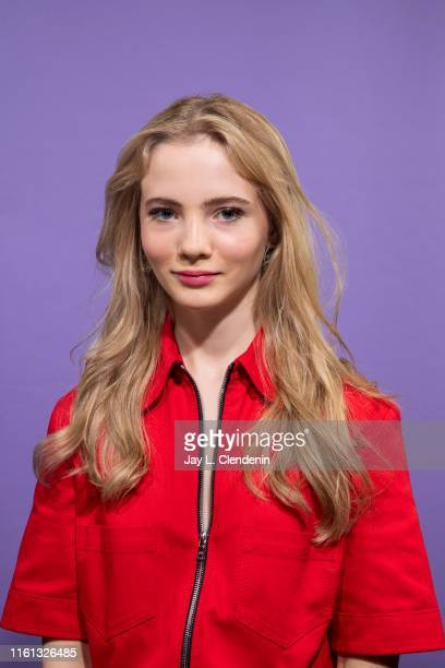 Actress Freya Allan of 'The Witcher' is photographed for Los Angeles Times at ComicCon International on July 19 2019 in San Diego California...