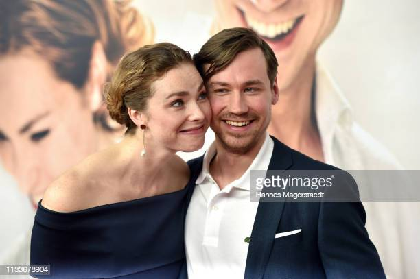 Actress Freya Mavor and David Kross attend the premiere of the film Trautmann at Mathaeser Filmpalast on March 4 2019 in Munich Germany