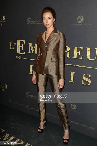 Actress Freya Mavor attends L'Empereur De Paris Paris Premiere At Gaumont Opera theater on December 10 2018 in Paris France