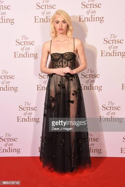 Actress Freya Mavor attends 'The Sense of an Ending' UK gala screening on April 6 2017 in London United Kingdom