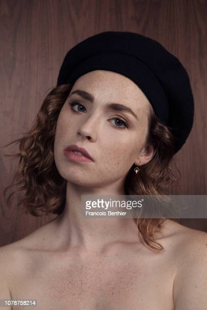 Actress Freya Mavor poses for a portrait on November 2018 in Paris France