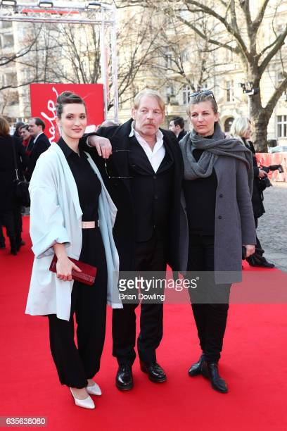 Actress Friederike Becht actor Ben Becker and his partner Anne Seidel at the 'Der Gleiche Himmel' premiere during the 67th Berlinale International...