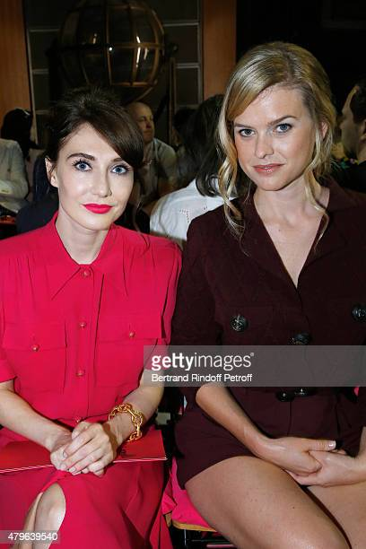 Actress from 'Game of Thrones' Carice Van Houten and Actress from 'Startrek indo darkness' Alice Eve attend the Schiaparelli show as part of Paris...