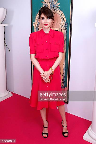 Actress from 'Game of Thrones' Carice Van Houten attends the Schiaparelli show as part of Paris Fashion Week Haute Couture Fall/Winter 2015/2016 on...