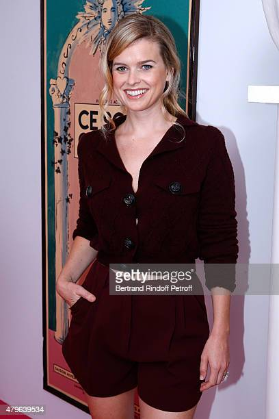 Actress from 'Startrek indo darkness' Alice Eve attends the Schiaparelli show as part of Paris Fashion Week Haute Couture Fall/Winter 2015/2016 on...