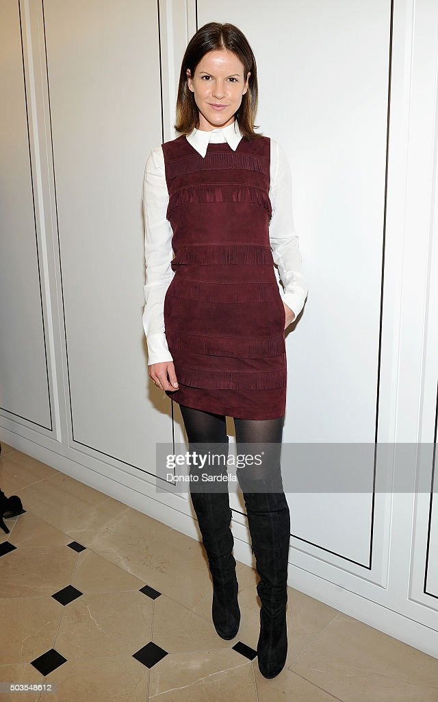 Actress Fuchsia Kate Sumner, wearing Burberry, at Burberry and Fox Searchlight Pictures honour the cast and filmmakers of 'Brooklyn' at Burberry on January 5, 2016 in Beverly Hills, California.