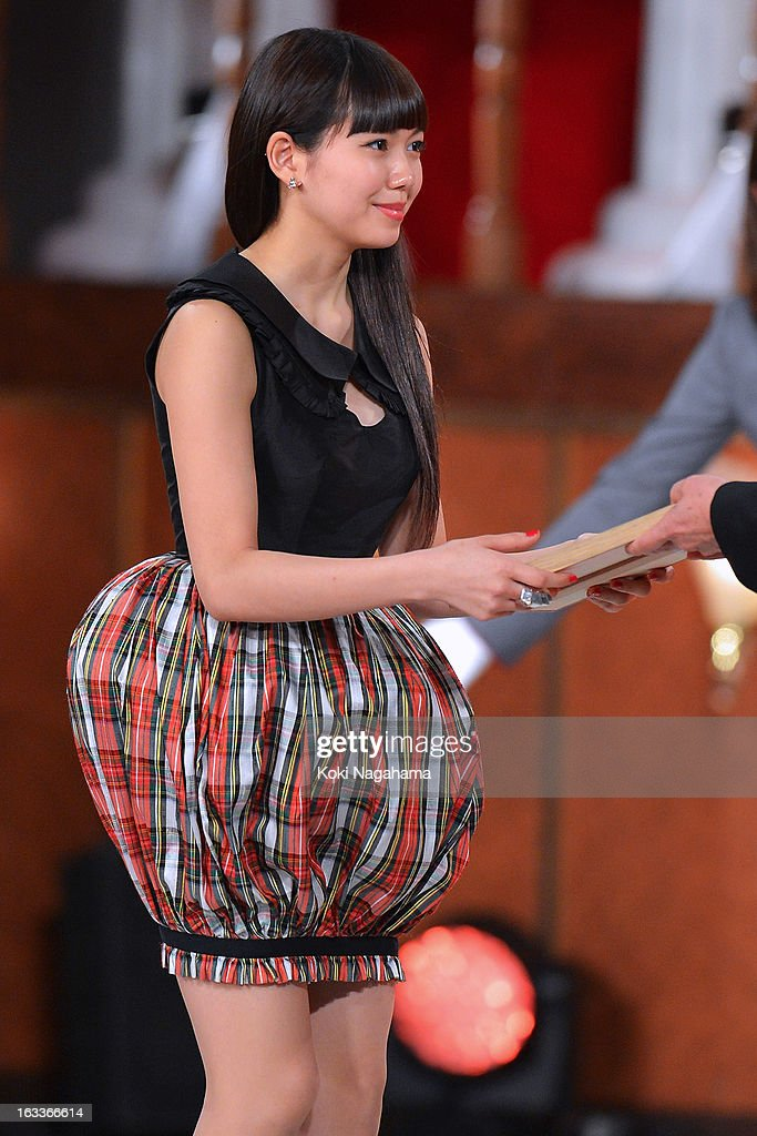 Actress Fumi Nikaido accepts Award for New star during the 36th Japan Academy Prize Award Ceremony at Grand Prince Hotel Shin Takanawa on March 8, 2013 in Tokyo, Japan.