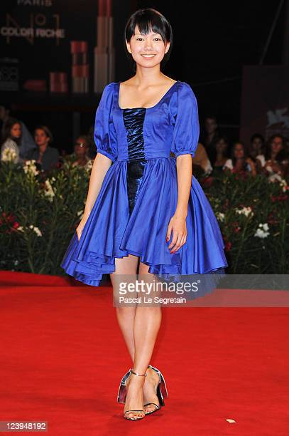 """Actress Fumi Nikaido attends the """"Himizu"""" Premiere during the 68th Venice Film Festival at Palazzo del Cinema on September 6, 2011 in Venice, Italy."""