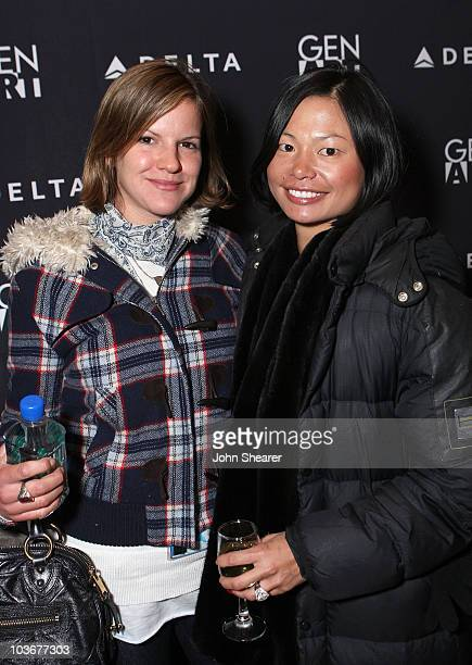 Actress Fuschia Kate Sumner and guest attend the August Party at the 360 Sky Delta Lounge on January 22 2008 in Park City Utah