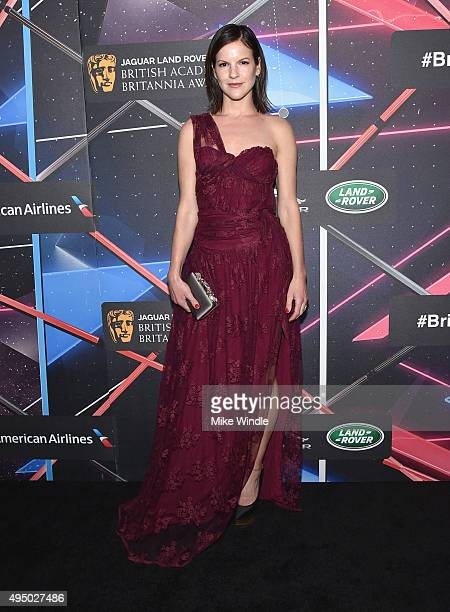 Actress Fuschia Sumner attends the 2015 Jaguar Land Rover British Academy Britannia Awards presented by American Airlines at The Beverly Hilton Hotel...