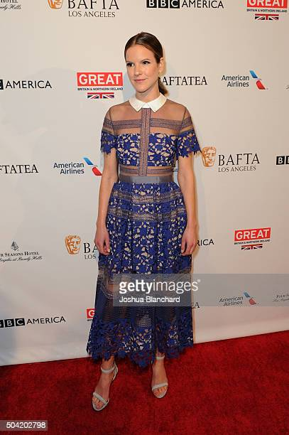 Actress Fuschia Sumner attends the BAFTA Los Angeles Awards Season Tea at Four Seasons Hotel Los Angeles at Beverly Hills on January 9 2016 in Los...