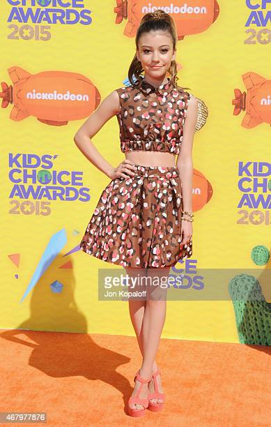 Actress G Hannelius arrives at Nickelodeon's 28th Annual Kids' Choice Awards at The Forum on March 28 2015 in Inglewood California