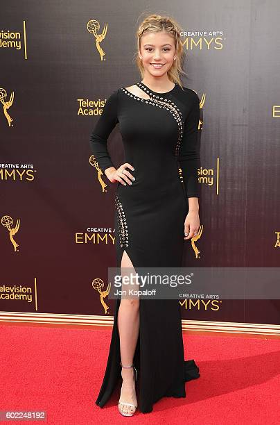 Actress G Hannelius arrives at the 2016 Creative Arts Emmy Awards at Microsoft Theater on September 10 2016 in Los Angeles California