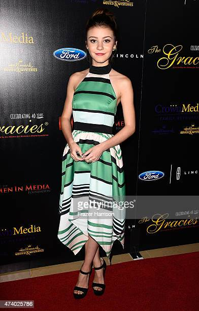 Actress G Hannelius arrives at the 40th Anniversary Gracies Awards at The Beverly Hilton Hotel on May 19 2015 in Beverly Hills California