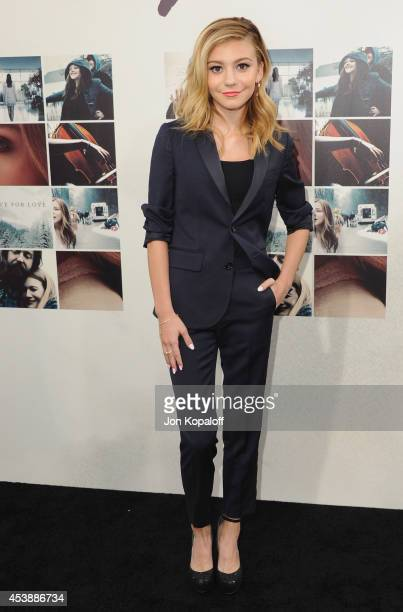Actress G Hannelius arrives at the Los Angeles Premiere 'If I Stay' at TCL Chinese Theatre on August 20 2014 in Hollywood California