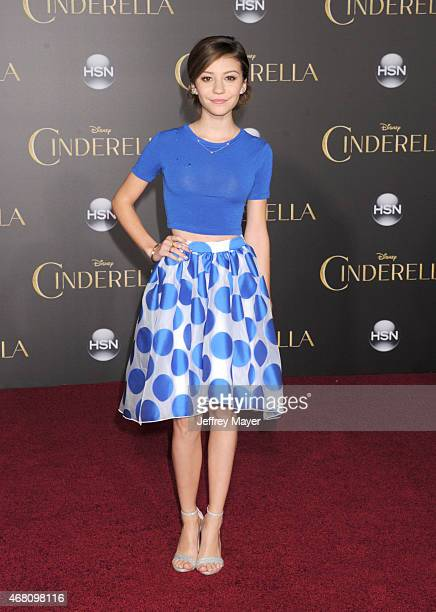 Actress G. Hannelius arrives at the World Premiere of Disney's 'Cinderella' at the El Capitan Theatre on March 1, 2015 in Hollywood, California.