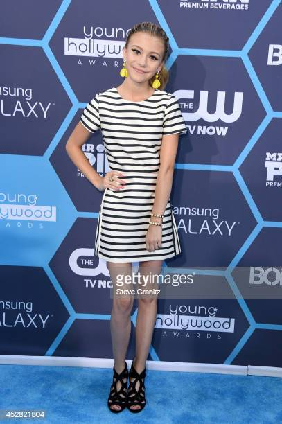 Actress G Hannelius attends the 2014 Young Hollywood Awards brought to you by Samsung Galaxy at The Wiltern on July 27 2014 in Los Angeles California