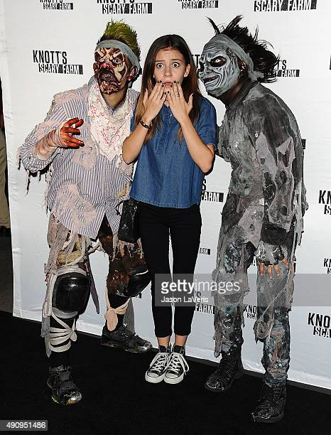 Actress G Hannelius attends the Knott's Scary Farm black carpet at Knott's Berry Farm on October 1 2015 in Buena Park California
