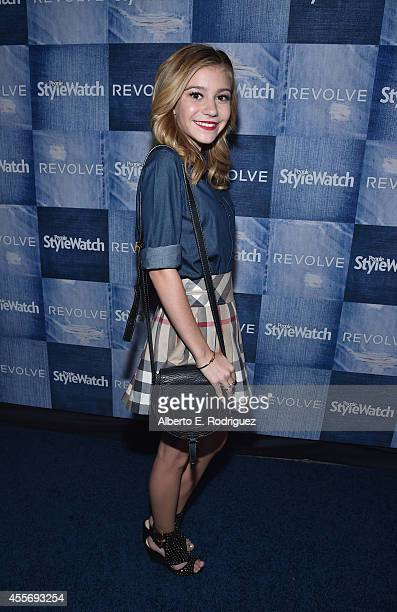 Actress G Hannelius attends the People StyleWatch Denim Event at The Line on September 18 2014 in Los Angeles California