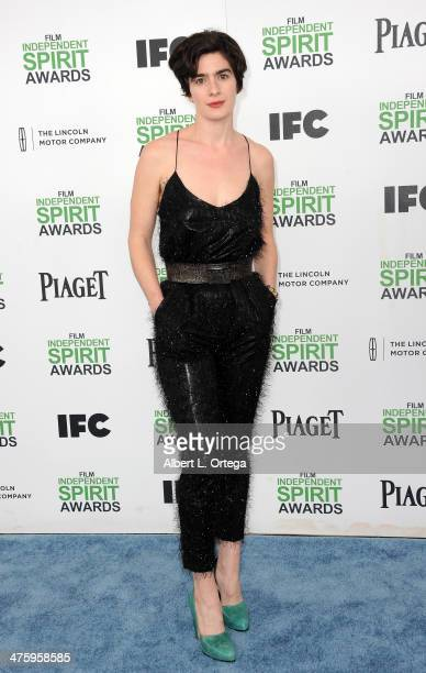 Actress Gabby Hoffman arrives for the 2014 Film Independent Spirit Awards held at the beach on March 1 2014 in Santa Monica California