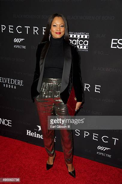 Actress Gabcelle Beauvais attends SpectreThe Black Women of Bond tribute at California African American Museum on November 3 2015 in Los Angeles...