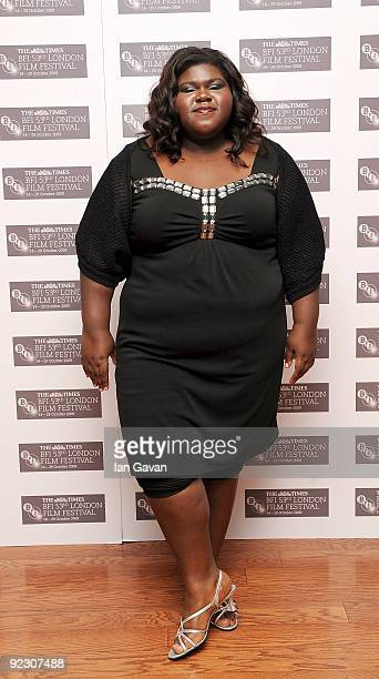 Actress Gabourey 'Gabby' Sidibe arrives at the premiere of 'Precious' during the Times BFI 53rd London Film Festival at the Vue West End on October...
