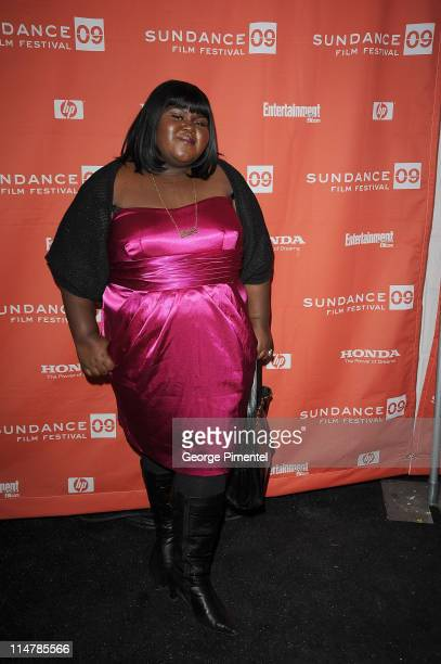 Actress Gabourey Gabby Sidibe attends the premiere of Precious Based On The Novel 'Push' By Sapphire during the 2009 Sundance Film Festival at...