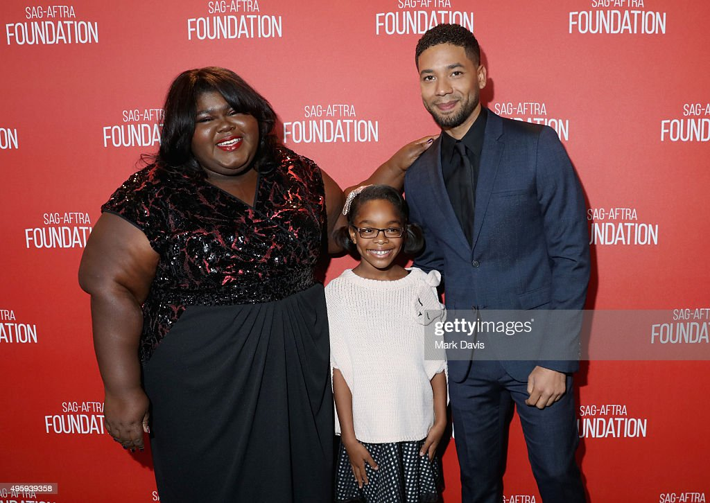 Actress Gabourey Sidibe, actress Marsai Martin and actor Jussie Smollett attend the Screen Actors Guild Foundation 30th Anniversary Celebration at Wallis Annenberg Center for the Performing Arts on November 5, 2015 in Beverly Hills, California.