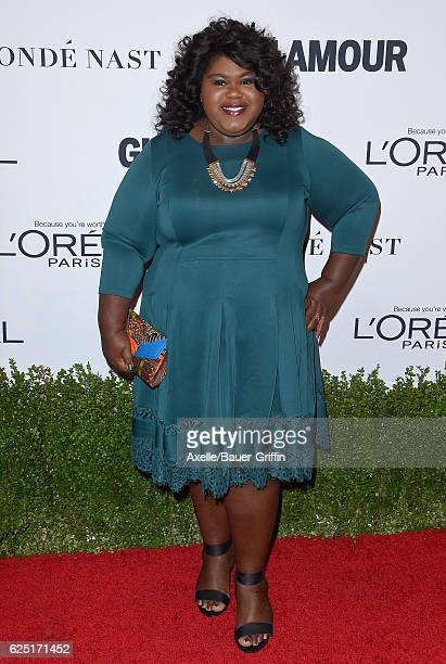 Actress Gabourey Sidibe arrives at Glamour Women of the Year 2016 at NeueHouse Hollywood on November 14 2016 in Los Angeles California